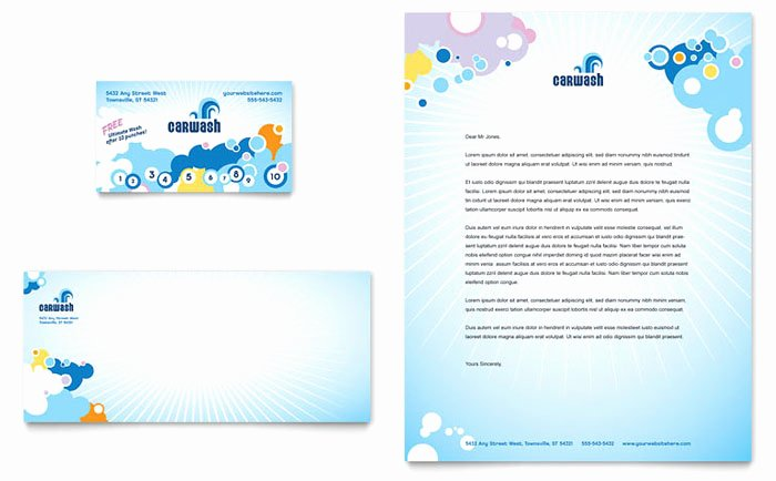 Car Wash Gift Certificate Template Best Of Car Wash Business Card & Letterhead Template Design