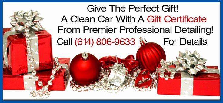 Car Wash Gift Certificate Template Elegant Premier Pro Detailing