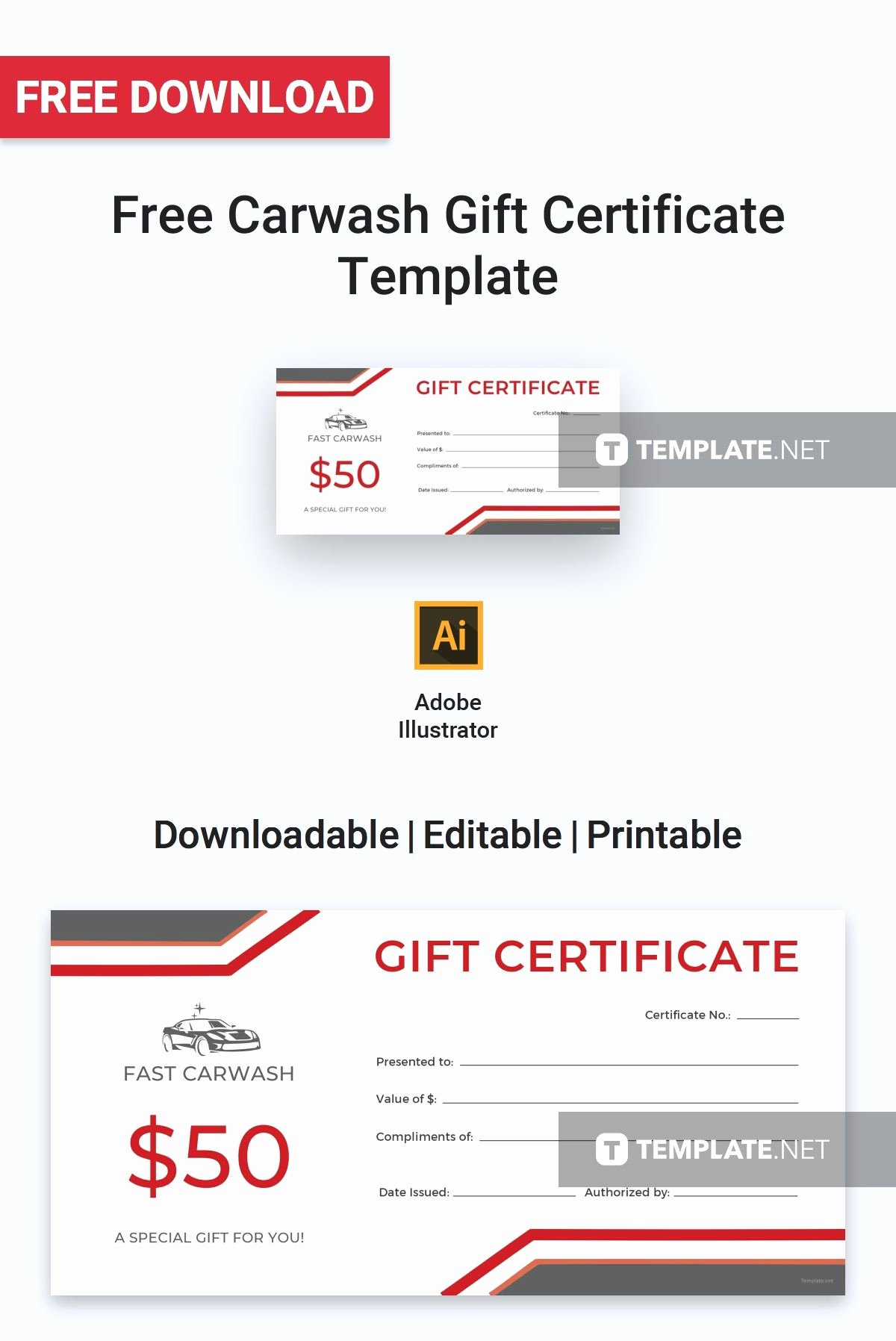 Car Wash Gift Certificate Template Luxury Free Carwash Gift Certificate
