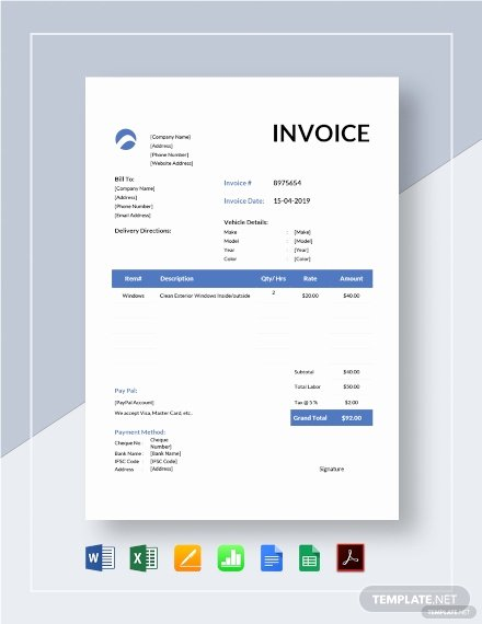 Car Wash Gift Certificate Template New Car Wash Invoice Template Pdf Word Excel