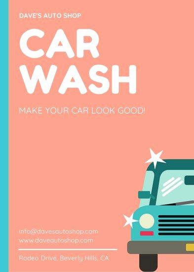 Car Wash Gift Certificate Template Unique Customize 44 Car Wash Flyer Templates Online Canva