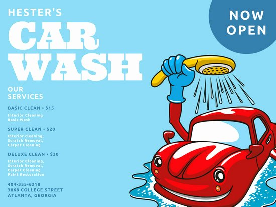 Car Wash Gift Certificate Template Unique Customize 52 Car Wash Poster Templates Online Canva