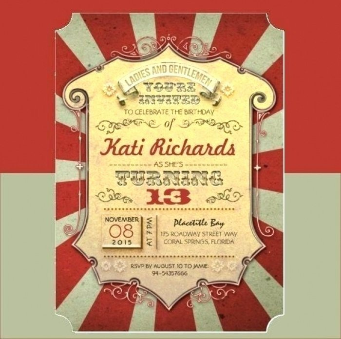 Carnival Ticket Invitation Template Free Lovely Beautiful Circus themed Invitation Templates Free Picture