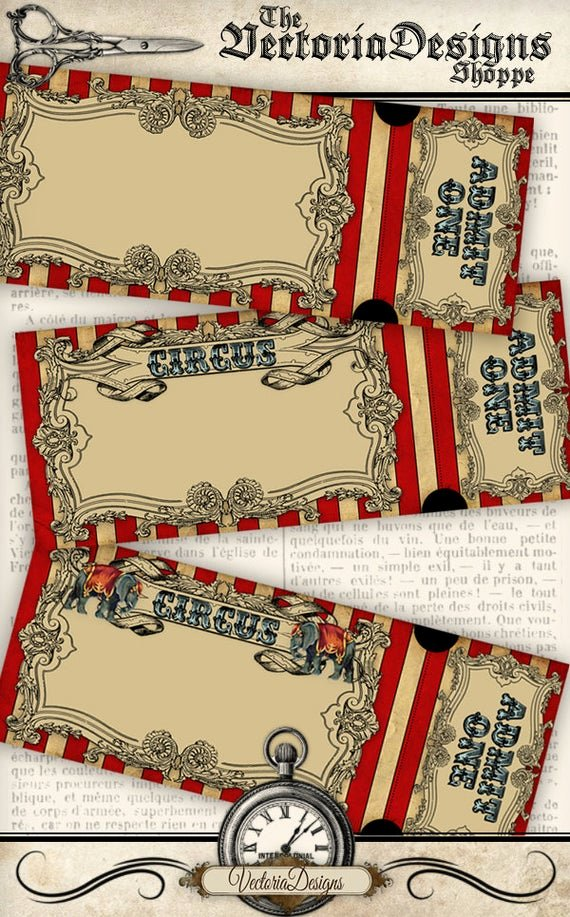 circus invitation tickets circus party