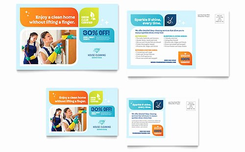 Carpet Cleaning Gift Certificate Template Awesome Cleaning Services Postcard Template Design