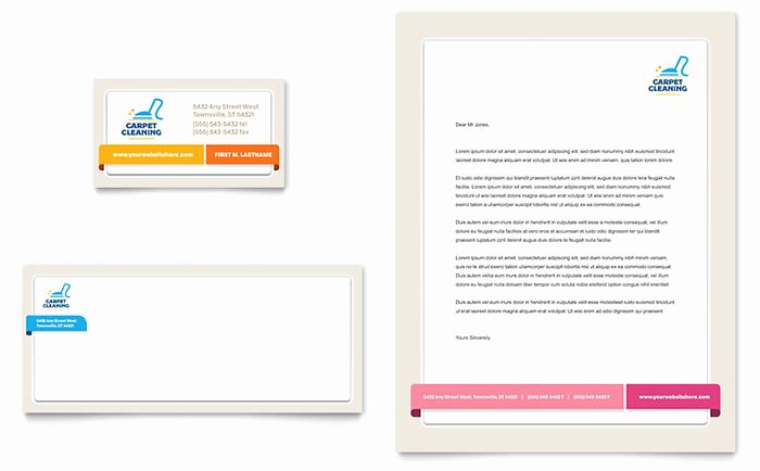 Carpet Cleaning Gift Certificate Template Beautiful Carpet Cleaning Business Card & Letterhead Template Design