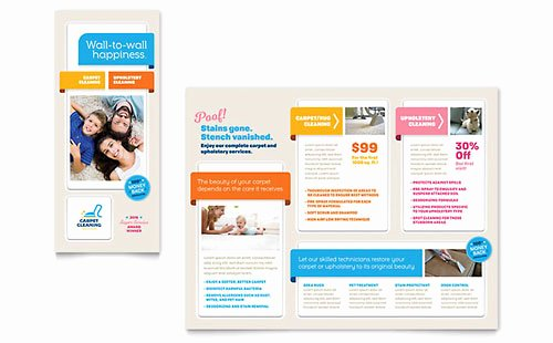 Carpet Cleaning Gift Certificate Template New Free Tri Fold Brochure Templates Download Designs