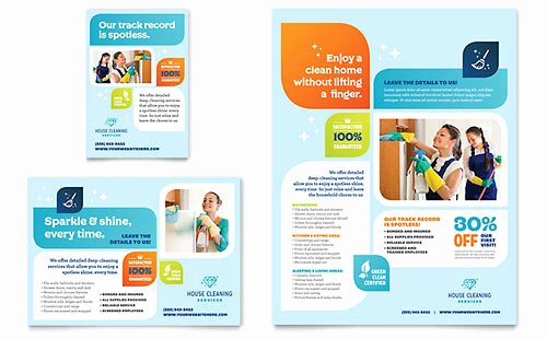 Carpet Cleaning Gift Certificate Template Unique Cleaning Services Flyer & Ad Template Design