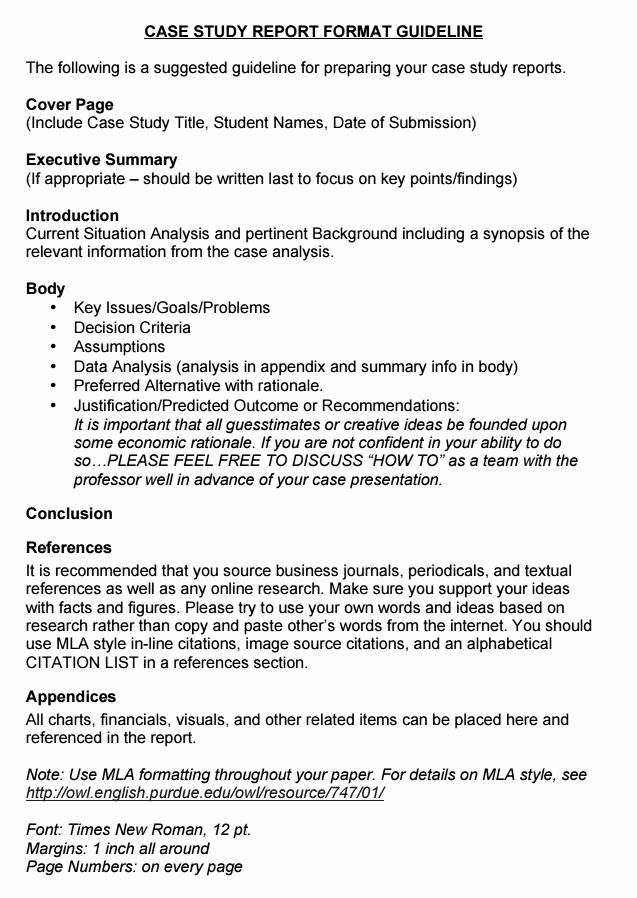 Case Study format New Case Study format Samples and Examples Basic Guide for