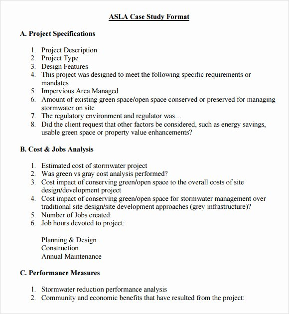 Case Study format New Dissertation Case Study Structure