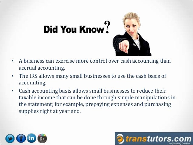 Cash Basis Income Statement Example Fresh which is Better Cash Method Vs Accrual Method