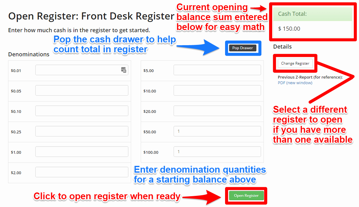 Cash Drawer Check Out Sheet Elegant Z Report End Of Day Report Cash Register Closing