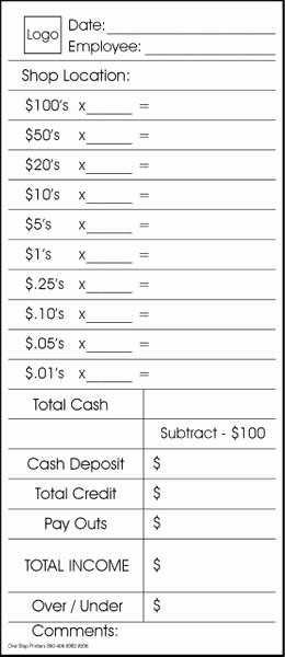 Cash Drawer Count Sheet Excel Best Of 10 Cash Drawer End Of Day Peel and Seal Envelope