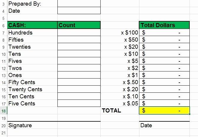 Cash Drawer Count Sheet Template Best Of Enter Begin Cash and Reconcile Cash Drawer V4 Request
