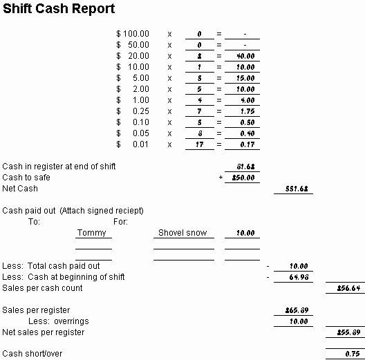 Cash Drawer Count Sheet Template Inspirational 7 Best Daily Cash Sheet Images On Pinterest