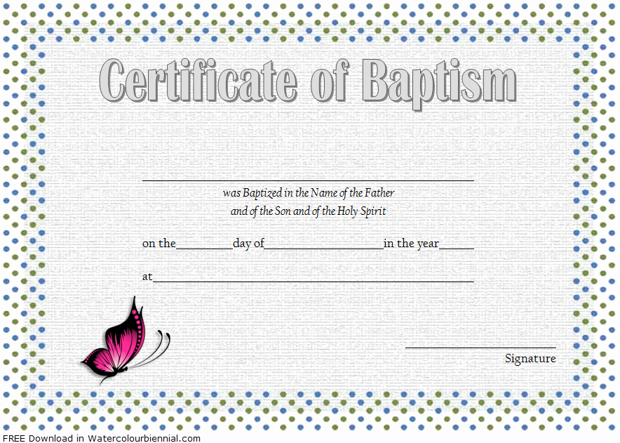 Catholic Baptism Certificate Template Fresh Baptism Certificate Template Word [9 New Designs Free]