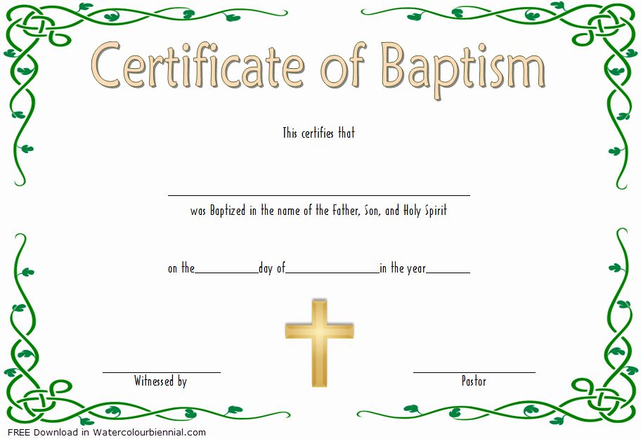 Catholic Baptism Certificate Template Lovely Baptism Certificate Template Word [9 New Designs Free]