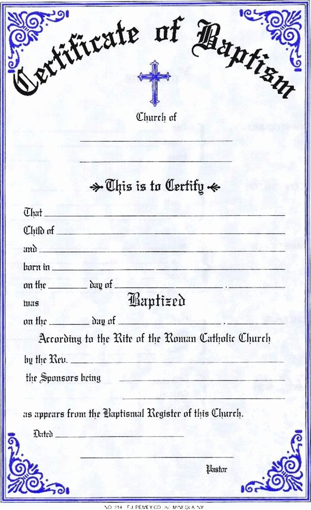 Catholic Confirmation Certificate Template Awesome Baptism Certificate
