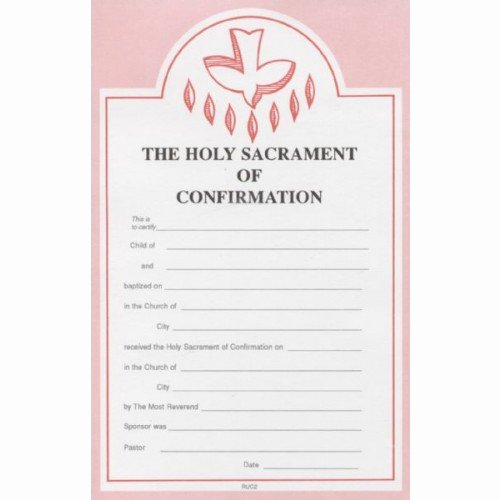 Catholic Confirmation Certificate Template Beautiful Confirmation Certificate