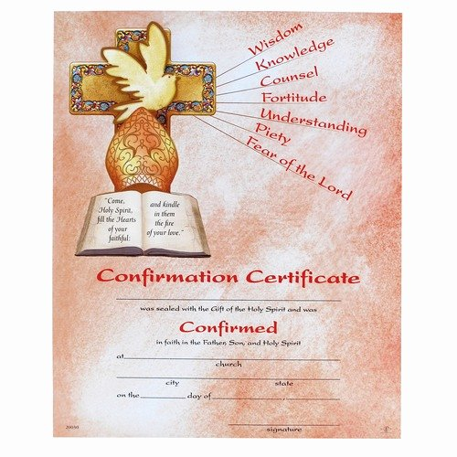 confirmation certificate i