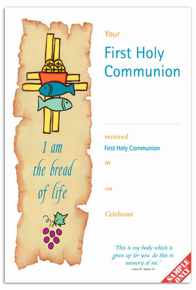 Catholic Confirmation Certificate Template Luxury First Holy Munion Certificate Template