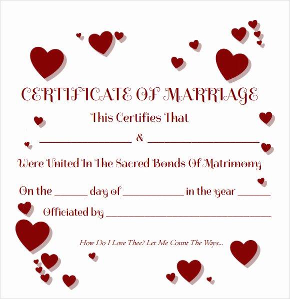 Catholic Marriage Certificate Template Fresh Free 17 Sample Marriage Certificate Templates In Pdf