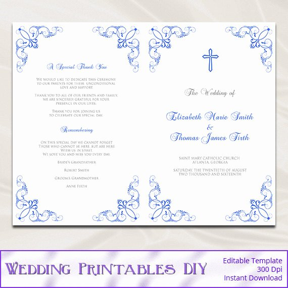 Catholic Marriage Certificate Template Inspirational Catholic Wedding Program Template