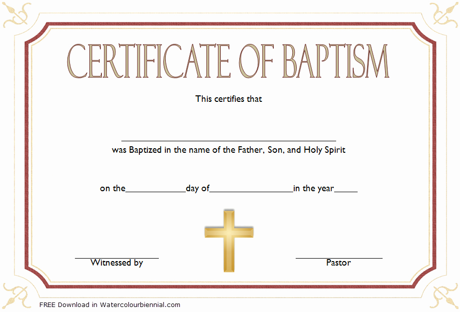Catholic Marriage Certificate Template Lovely Baptism Certificate Template Word [9 New Designs Free]