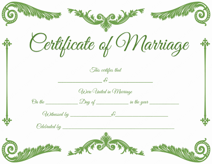 Catholic Marriage Certificate Template Lovely Royal Corner Marriage Certificate format for Pdf