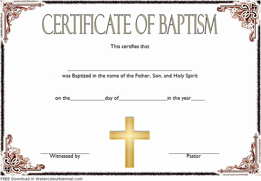 Catholic Marriage Certificate Template Luxury Baptism Certificate Template Word [9 New Designs Free]