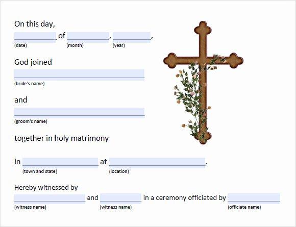 Catholic Marriage Certificate Template Luxury Free 17 Sample Marriage Certificate Templates In Pdf
