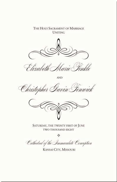 Catholic Marriage Certificate Template Unique Best 25 Wedding Program Templates Ideas On Pinterest