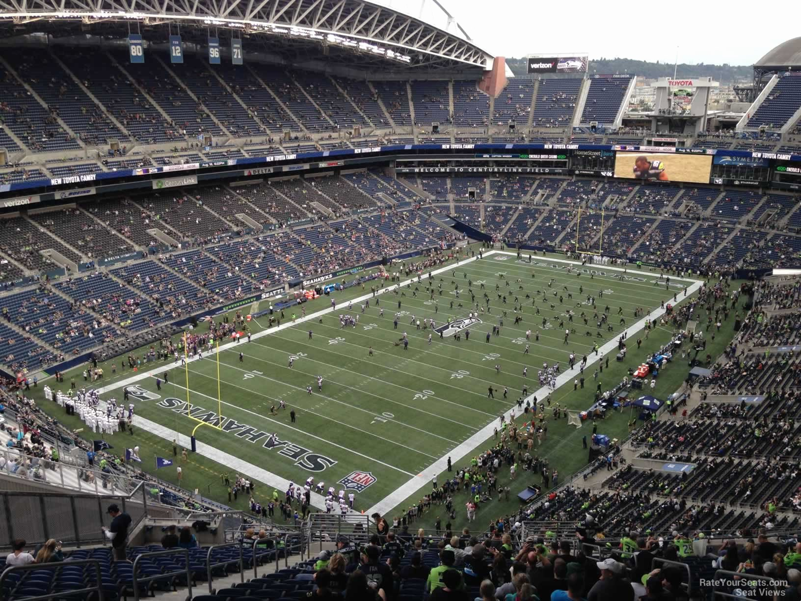 Centurylink Seating Chart with Rows and Seat Numbers Fresh Centurylink Field Section 344 Seattle Seahawks