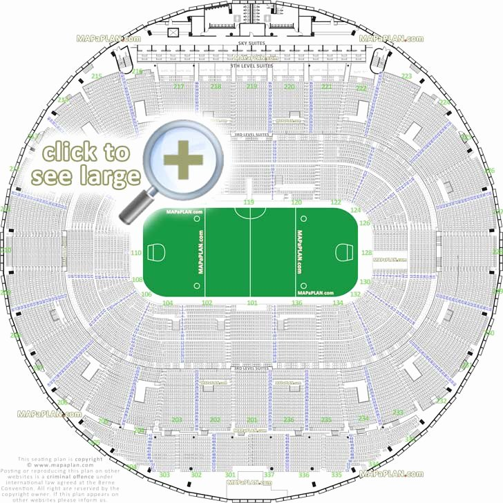 Centurylink Seating Chart with Rows and Seat Numbers Lovely Centurylink Field Seating Chart Ed Sheeran