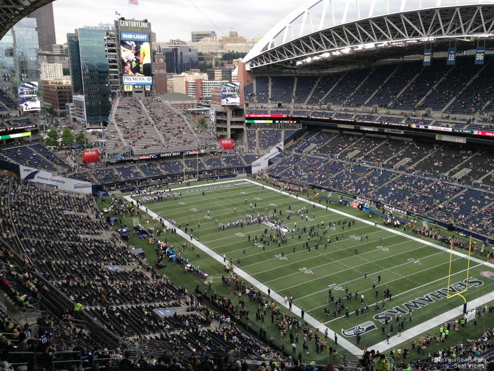Centurylink Seating Chart with Rows and Seat Numbers New Centurylink Field Section 328 Seattle Seahawks