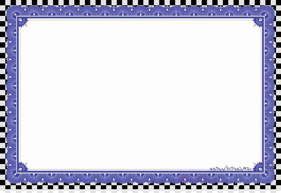 Certificate Border Design Png Awesome Award Blue Purple Transparent Png Image & Clipart Free
