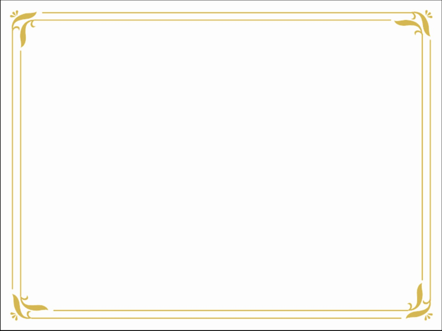 Certificate Borders for Word Beautiful Word Doc Download Simple Gold Certificate Border Ppt Template