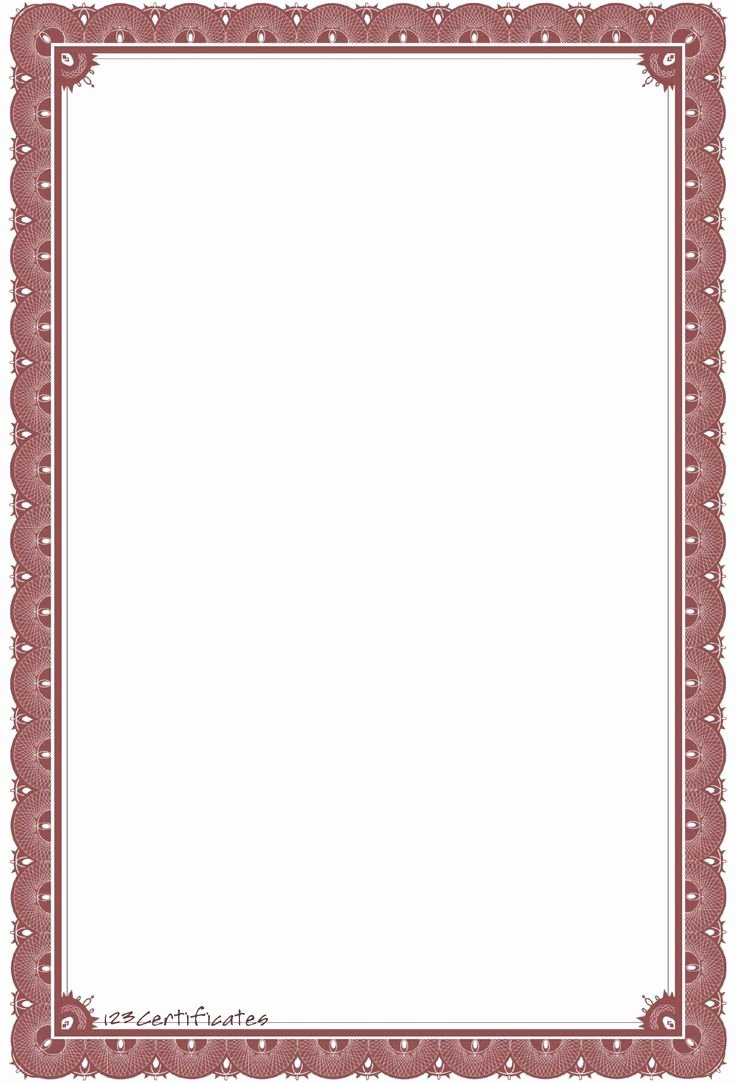 Certificate Borders for Word Elegant Background Templates formal Certificate Borders to
