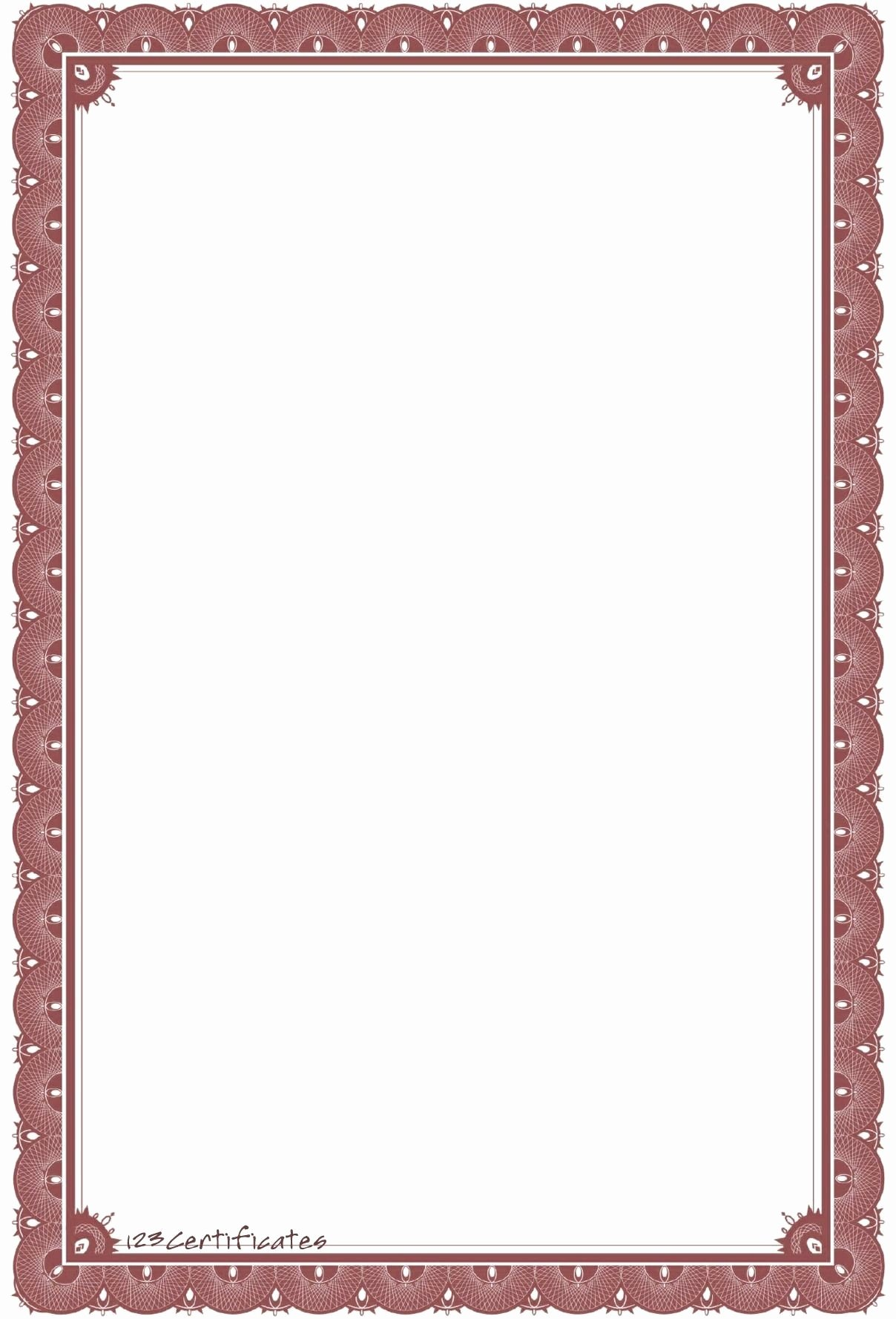 Certificate Borders for Word Elegant Certificate Border Design Word Flowersheet