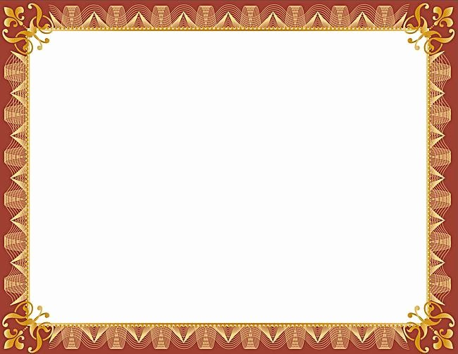 Certificate Borders for Word Unique Red Certificat Border Templates Ms Word Docfile