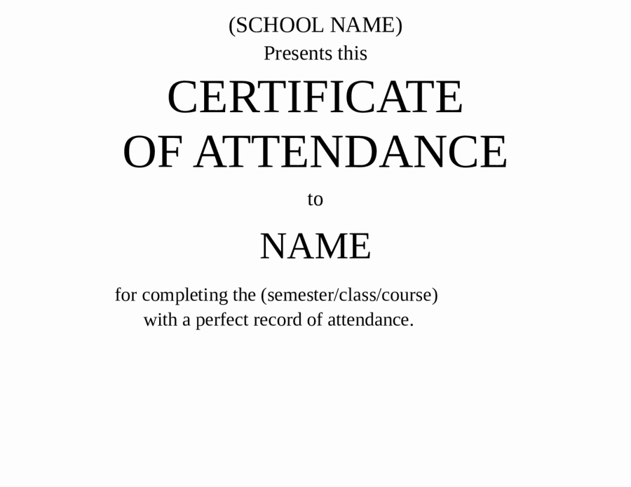 Certificate for Perfect attendance Luxury 2019 Certificate Of attendance Fillable Printable Pdf
