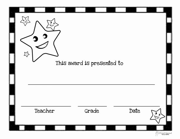 Certificate Ideas for Students Awesome You're A Star Free Printable Blank Certificates