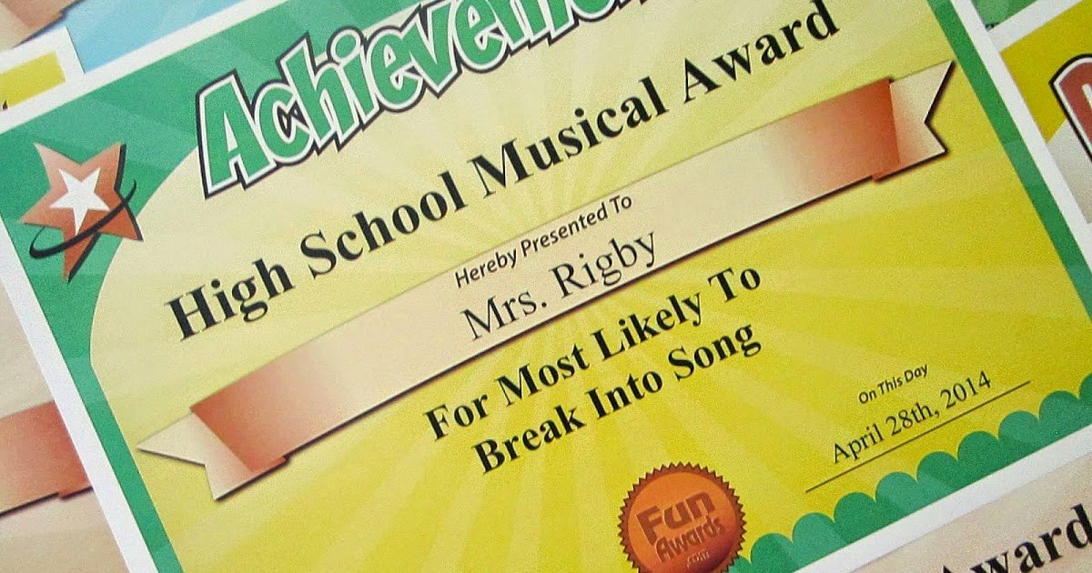 Certificate Ideas for Students Elegant Funny Award Ideas Most Likely to Awards