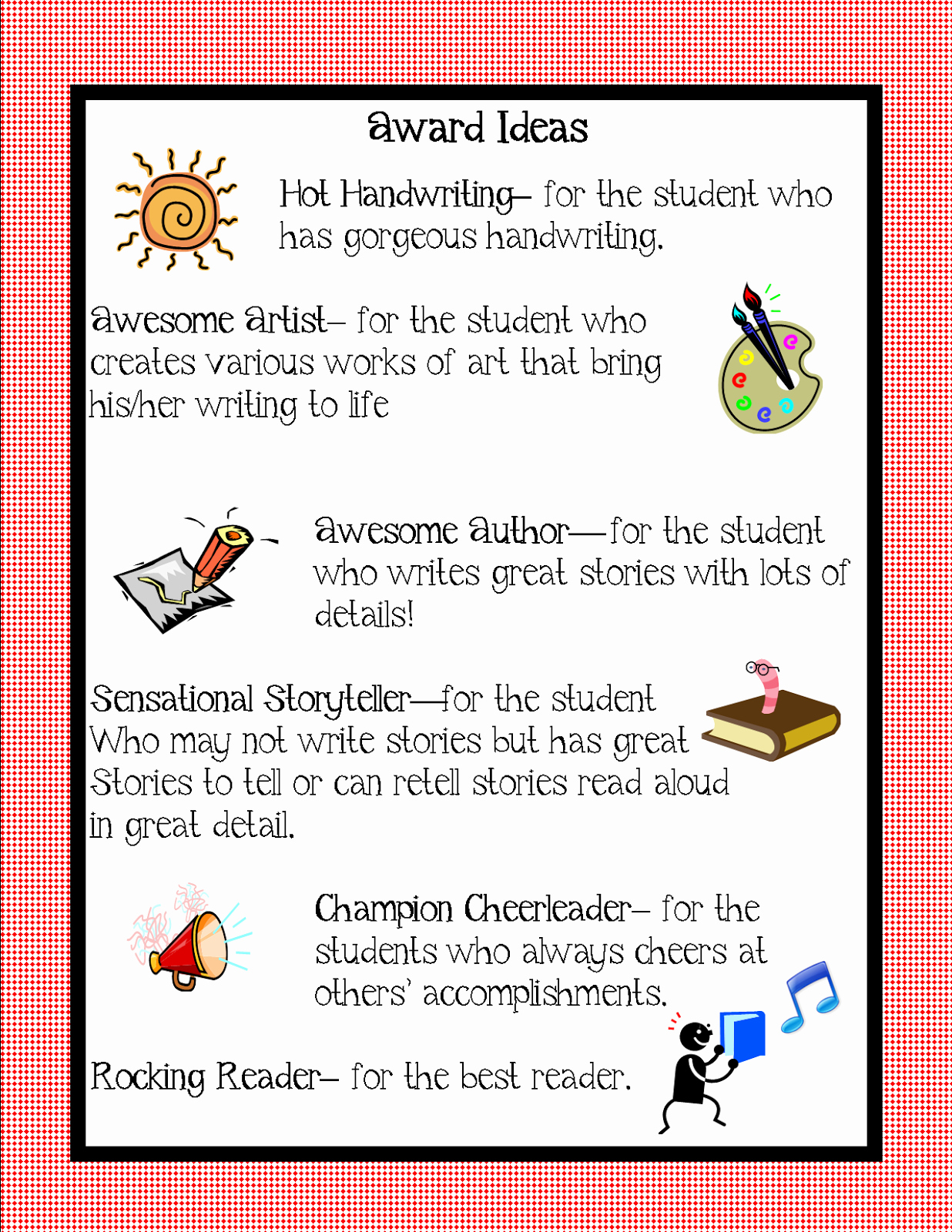 Certificate Ideas for Students Lovely Kindergarten Squared Awards Ideas for Your Kiddos