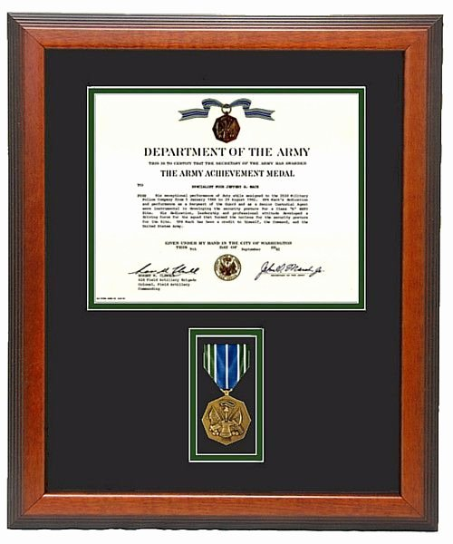 Certificate Of Achievement Army form Best Of Army Achievement Certificate Frame Military Memories and