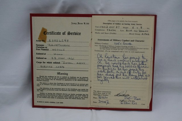 Certificate Of Achievement Army form Elegant Regular Army Certificate Of Service Red Book