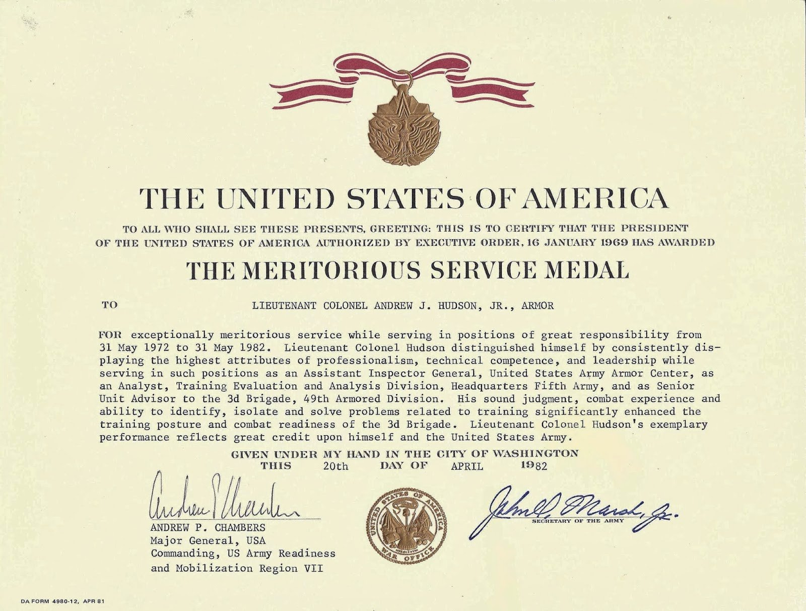 Certificate Of Achievement Army form Inspirational Air force Meritorious Service Medal Template