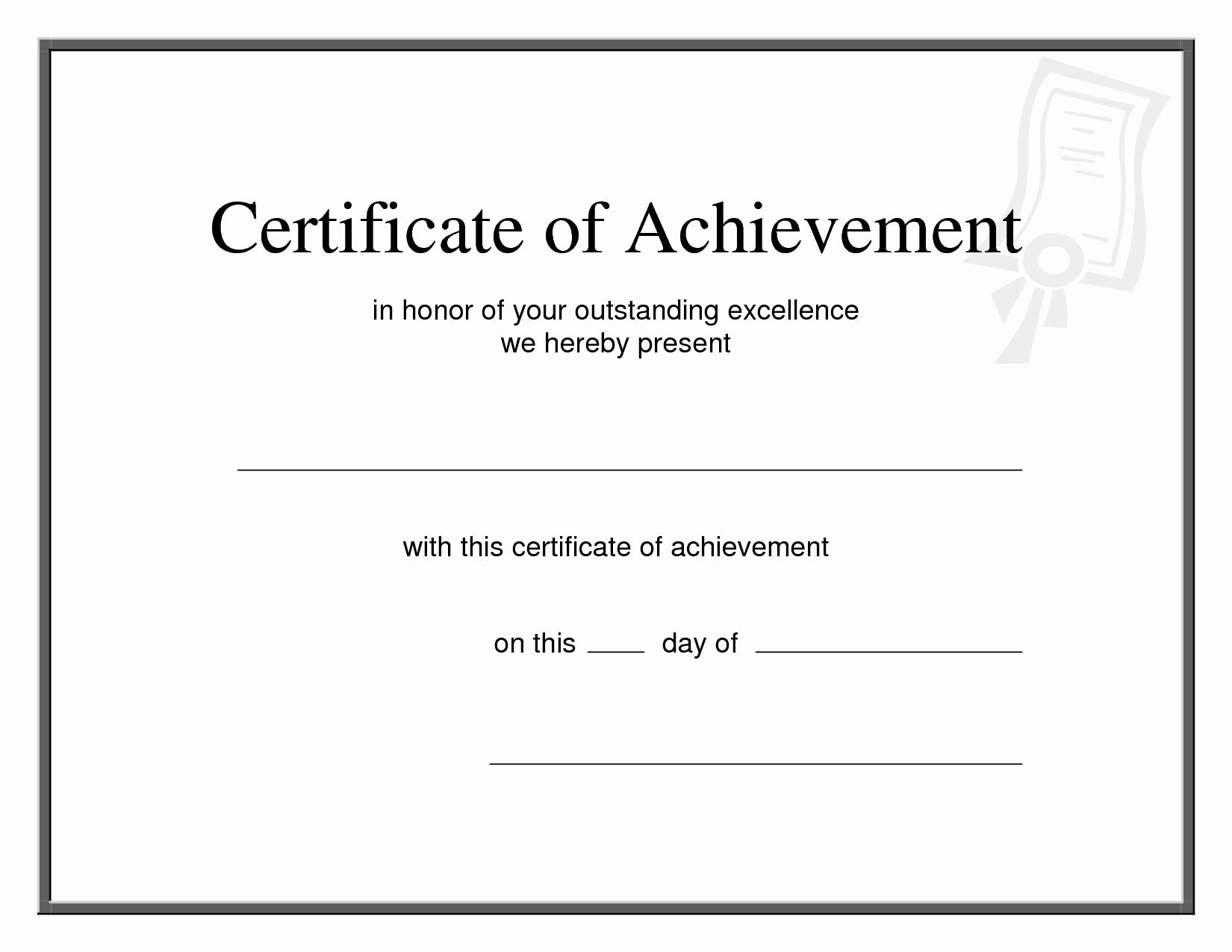 Certificate Of Achievement Army form Unique 27 Of Fillable Certificate Appreciation Template