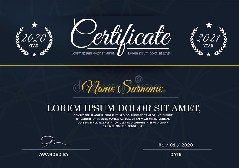 Certificate Of Achievement Frame Beautiful Certificate Achievement Frame Design Template Blue