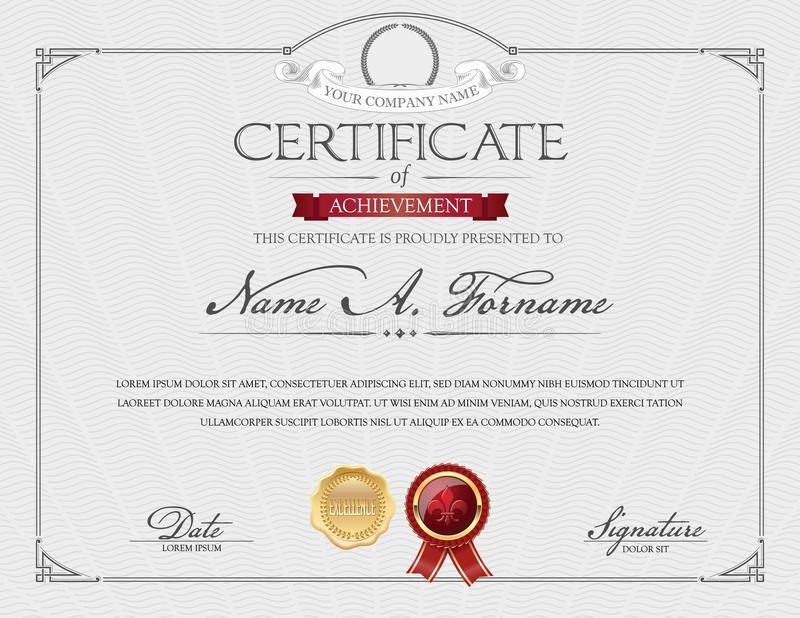 Certificate Of Achievement Frame Elegant Certificate Achievement Vintage Frame Landscape Stock
